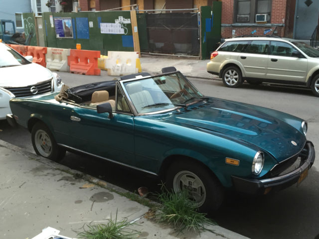 19790000 Fiat Spider 2000 Convertible (Teal/Black & Tan)