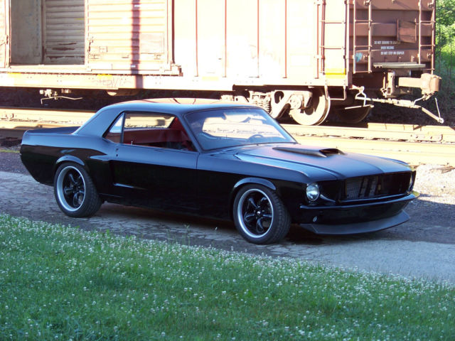 Seller of Classic Cars - 1968 Ford Mustang (Black/Red)1968 Mustang Coupe Black