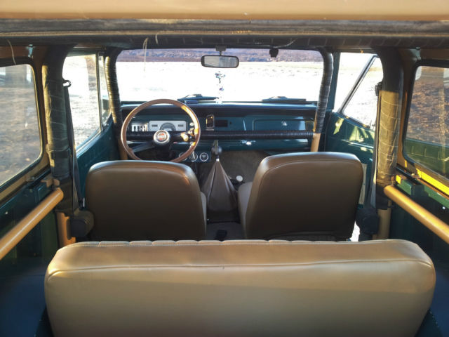 seller of classic cars 1970 jeep commando dark green and tan tan and green interior. Black Bedroom Furniture Sets. Home Design Ideas