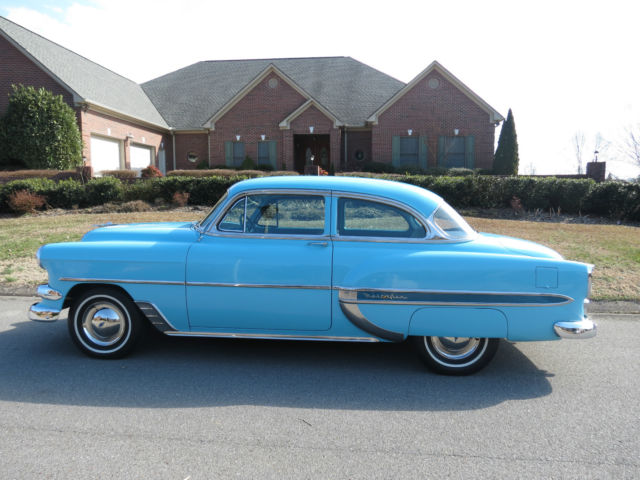 Parkway Chevrolet Used Cars Seller of Classic Cars - 1954 Chevrolet Bel Air/150/210 (Blue/Blue)