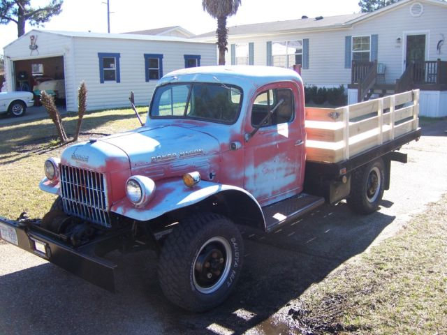 seller of classic cars 1955 dodge power wagon red blue blue