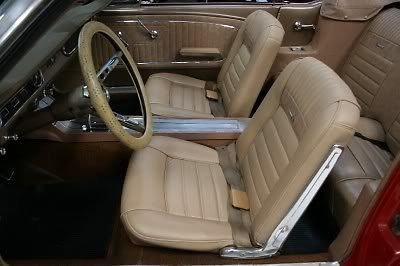 seller of classic cars 1964 ford mustang red light beige pony interior. Black Bedroom Furniture Sets. Home Design Ideas