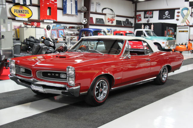 seller of classic cars 1966 pontiac gto red red. Black Bedroom Furniture Sets. Home Design Ideas
