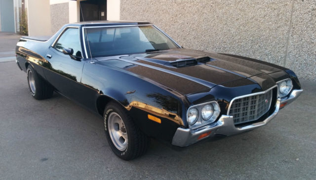 Seller of Classic Cars - 1972 Ford Ranchero (Black/Black)