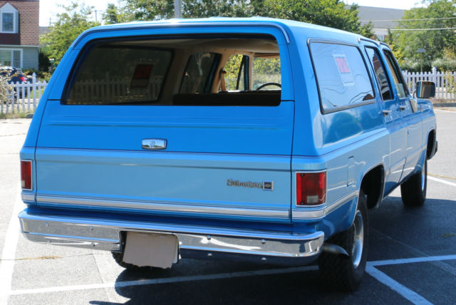 Seller Of Classic Cars 1978 Chevrolet Suburban Blue Tan