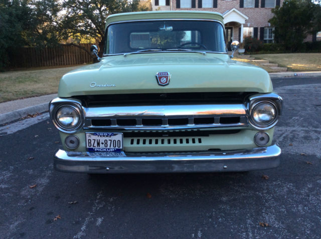 Seller Of Classic Cars 1957 Ford F 100 Willow Green