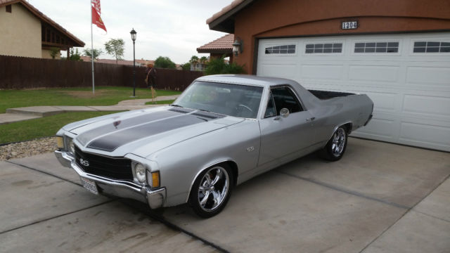 seller of classic cars 1972 chevrolet el camino gray black. Black Bedroom Furniture Sets. Home Design Ideas