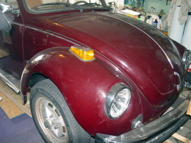 Seller Of Classic Cars 1977 Volkswagen Beetle Classic Burgundy White