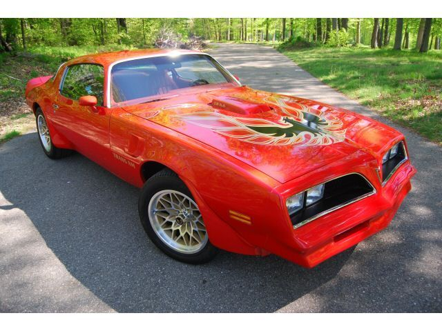 seller of classic cars   1978 pontiac trans am red red