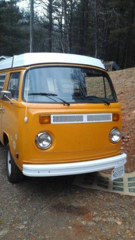 seller of classic cars 1977 volkswagen bus vanagon yellow yellow