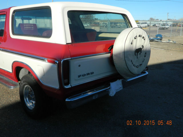 1979 Ford Bronco Red And White