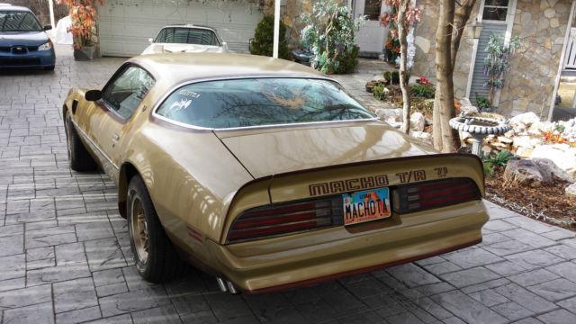 Seller Of Classic Cars 1978 Pontiac Trans Am Gold Tan