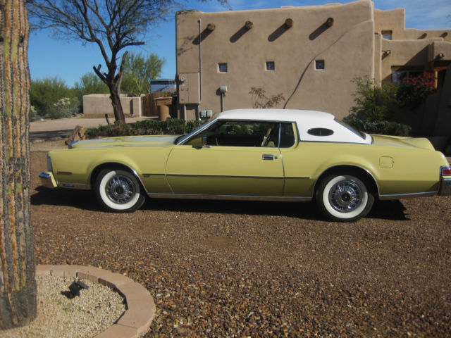 Seller of Classic Cars  1974 Lincoln Mark Series YellowGold