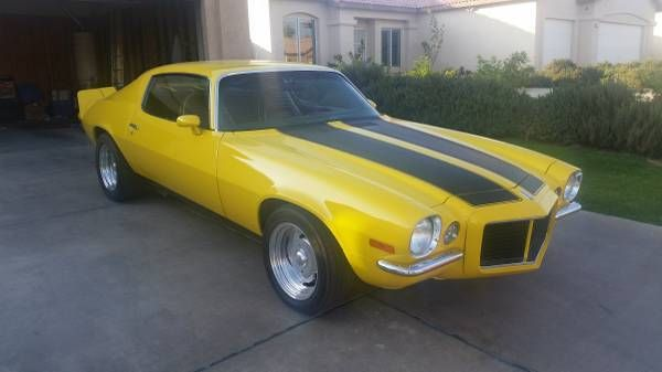 Seller Of Classic Cars 1971 Chevrolet Camaro Yellow Black
