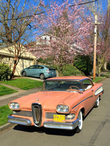 Seller of Clic Cars - 1958 Edsel Pacer (Coral/White/Coral) on