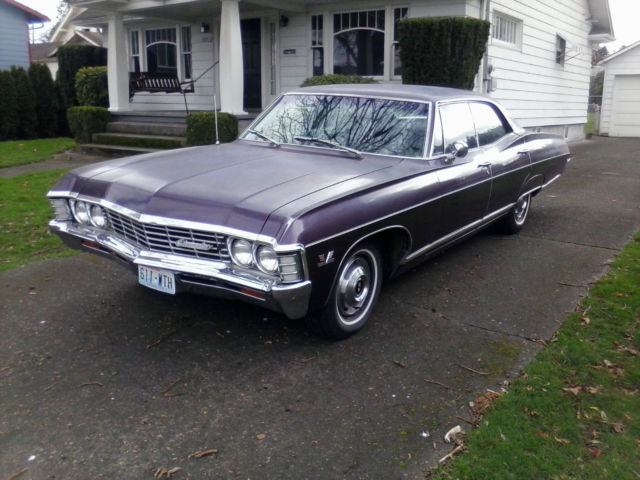 Seller of Classic Cars - 1967 Chevrolet Caprice (Plum/Plum)