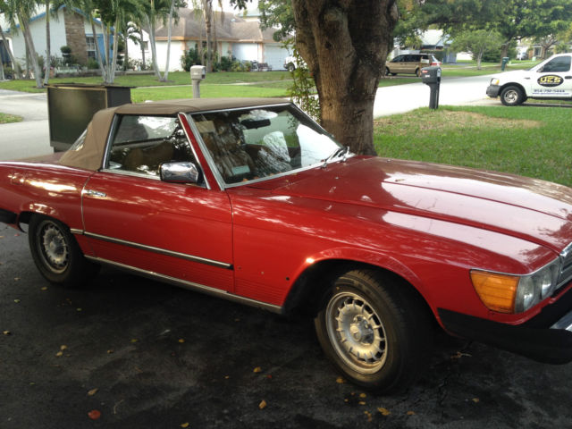 Seller Of Classic Cars 1975 Mercedes Benz 400 Series Red Tan