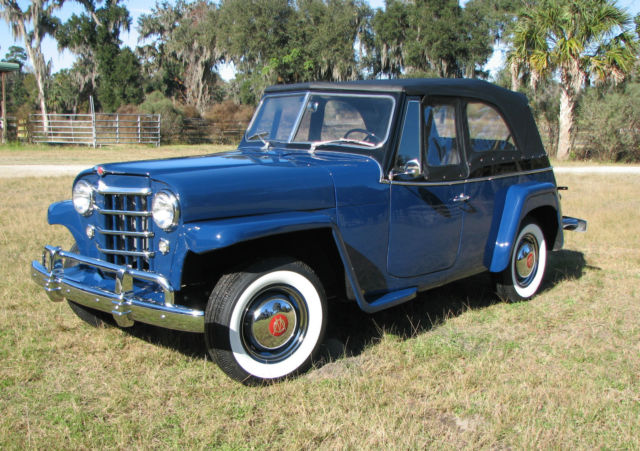 1950 Willys Jeepster (Blue/Black)