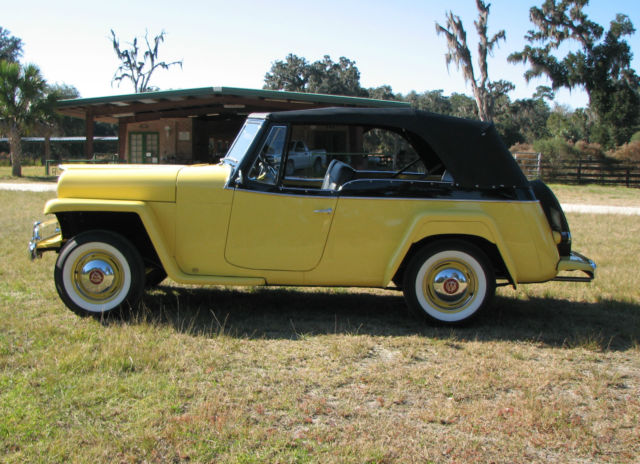 Seller Of Classic Cars 1951 Willys Jeepster Yellow Black