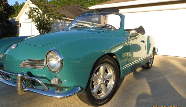 Seller Of Classic Cars 1963 Volkswagen Karmann Ghia Stock Emerald Green Black
