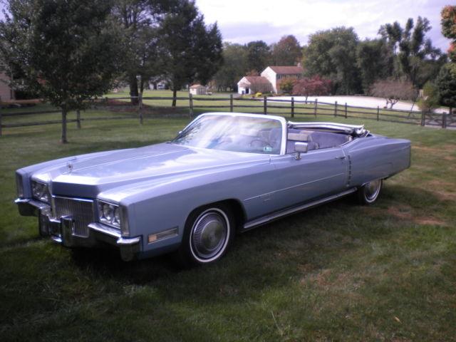 Seller Of Classic Cars 1971 Cadillac Eldorado Blue Blue