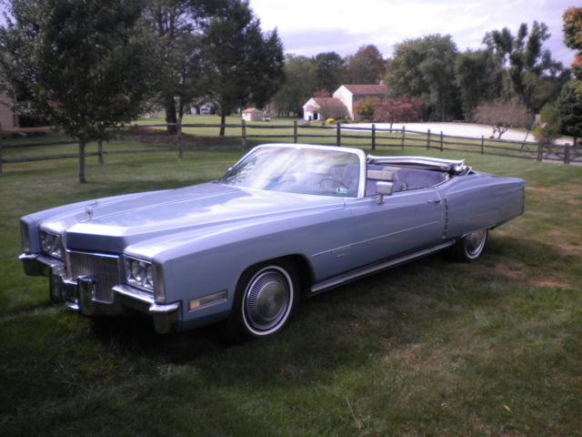 Seller Of Classic Cars 1971 Cadillac Eldorado Blue Blue