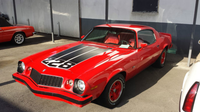 Seller Of Classic Cars 1974 Chevrolet Camaro Red Red