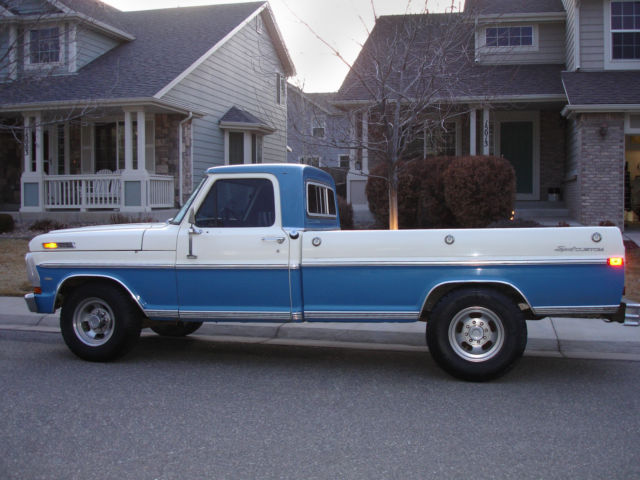 Seller of Classic Cars - 1971 Ford F-250 (BLUE/WHITE/BLUE ...