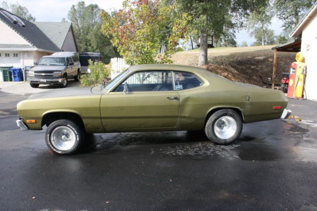 seller of classic cars 1973 plymouth duster green blue. Black Bedroom Furniture Sets. Home Design Ideas