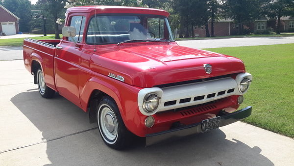 Seller Of Classic Cars 1957 Ford F 100 Red Red Black
