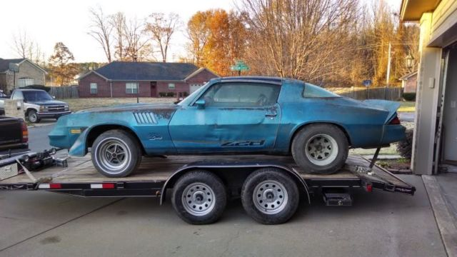 Seller Of Classic Cars 1979 Chevrolet Camaro Blue Blue