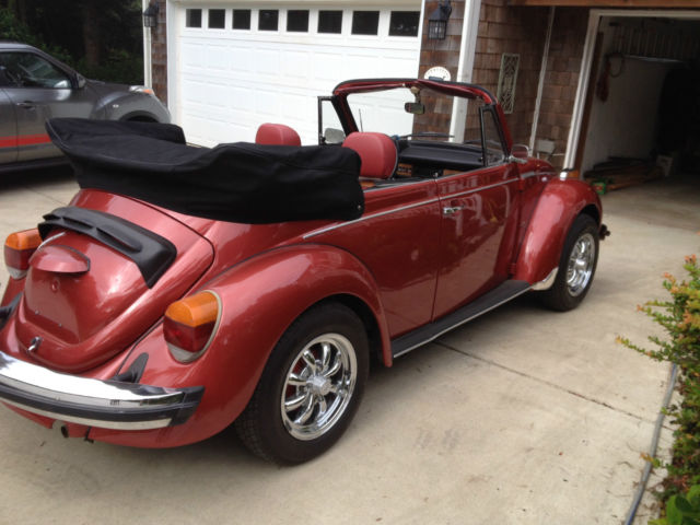 seller of classic cars 1979 volkswagen beetle classic indiana red metallic la3v red with. Black Bedroom Furniture Sets. Home Design Ideas