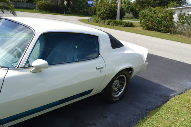 Seller of Classic Cars - 1979 Chevrolet Camaro (White/Blue)
