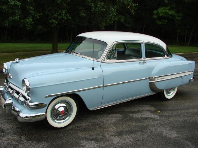 Seller of Classic Cars  1954 Chevrolet Bel Air/150/210 Blue/White