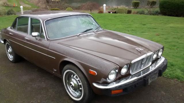 Seller of classic cars 1977 jaguar xj12 sable tan
