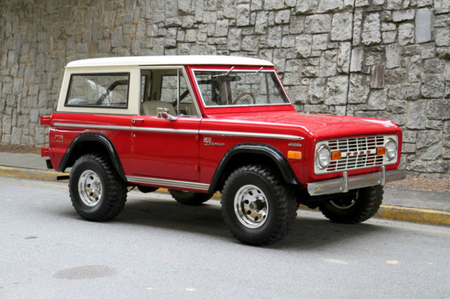 New Ford Bronco >> Seller of Classic Cars - 1972 Ford Bronco (Red/White)