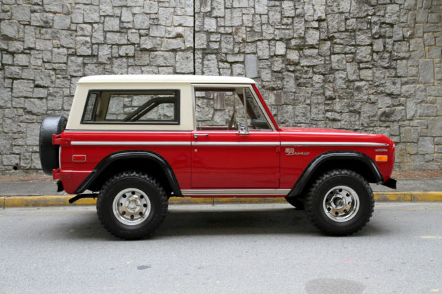 Seller Of Classic Cars 1972 Ford Bronco Red White