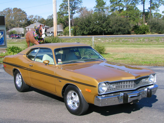 Seller of Classic Cars - 1973 Dodge Dart (Gold/PARCHMENT)