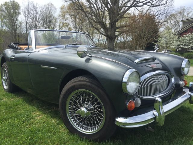 1965 Austin Healey 3000 (Green/Grey (light metallic)/Light Saddle)