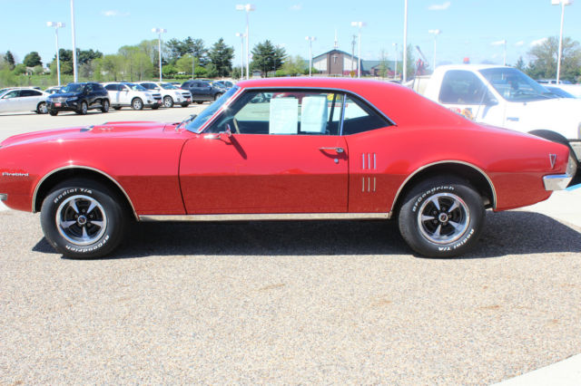 Seller Of Classic Cars 1968 Pontiac Firebird Bright Red