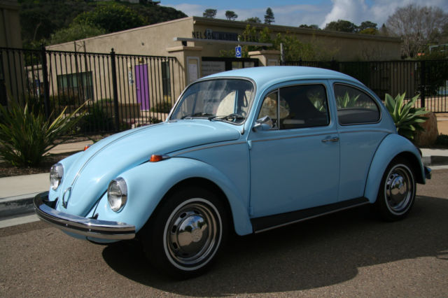 Seller of Classic Cars - 1969 Volkswagen Beetle - Classic (baby blue/Black)