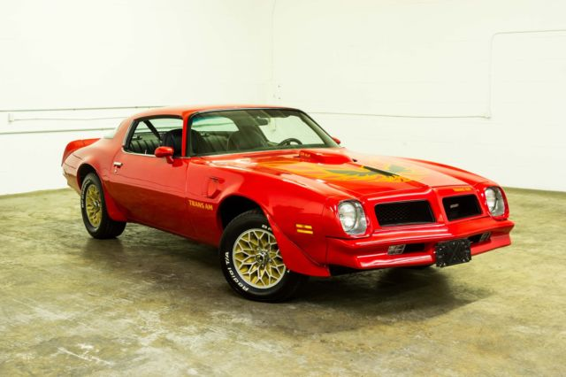 seller of classic cars 1976 pontiac trans am red black. Black Bedroom Furniture Sets. Home Design Ideas