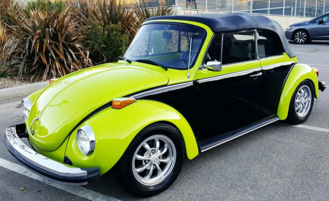 Seller of Classic Cars - 1974 Volkswagen Beetle - Classic (Green and Black Two-Tone/Black w ...