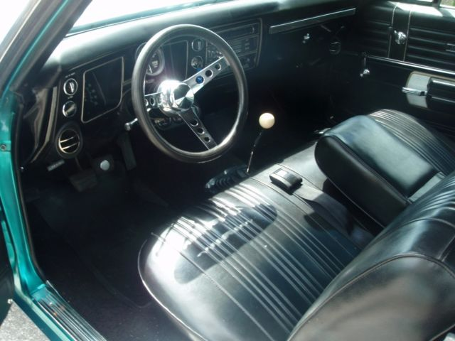 seller of classic cars 1968 chevrolet chevelle teal blue metallic black. Black Bedroom Furniture Sets. Home Design Ideas