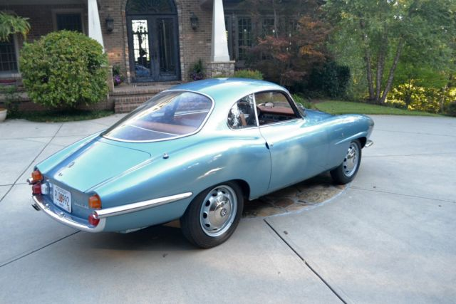 1966 Alfa Romeo Giulia (Blue/Saddle)