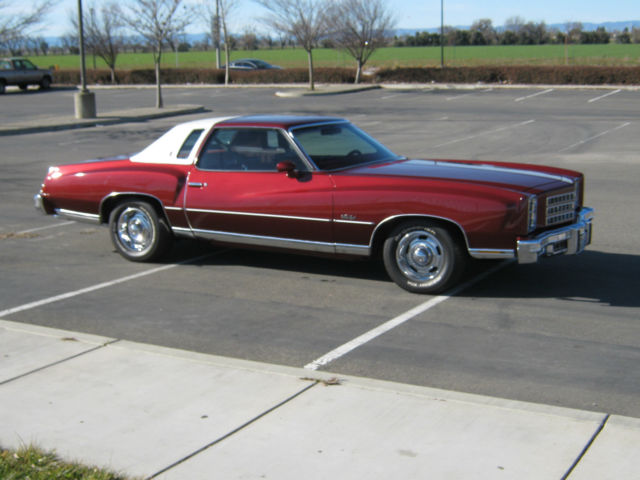 seller of classic cars 1976 chevrolet monte carlo burgundy burgundy. Black Bedroom Furniture Sets. Home Design Ideas