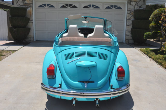 seller  classic cars  volkswagen beetle classic teal greentan   white