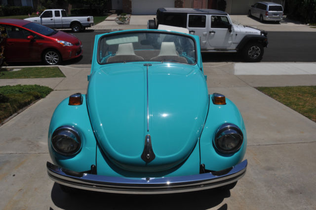 Seller of Classic Cars - 1971 Volkswagen Beetle - Classic (Teal Green/Tan and Off white)