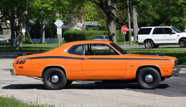 Seller Of Classic Cars 1975 Plymouth Duster Orange Black