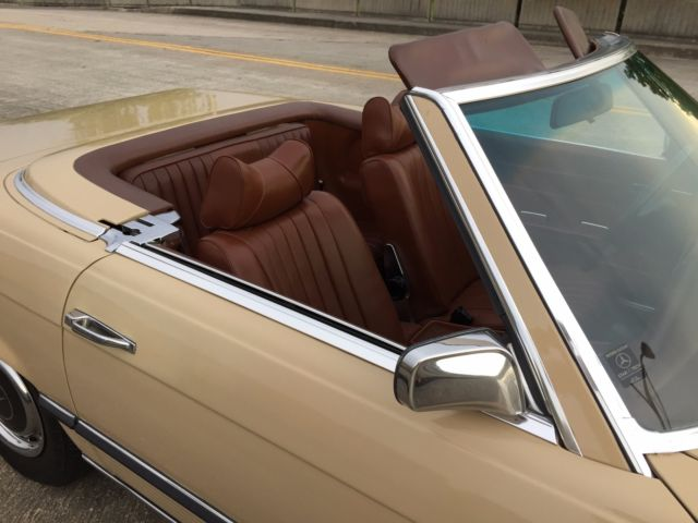 Seller Of Classic Cars 1973 Mercedes Benz Sl Class Beige Brown 263 Tobacco Brown Leather